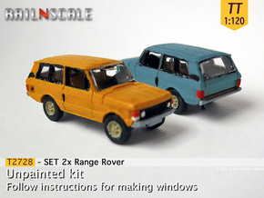 SET 2x Range Rover (TT 1:120) in Smooth Fine Detail Plastic