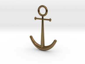 Anchor Pendant in Polished Bronze