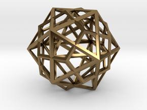 Icosahedron, Dodecahedron, Octahedron in Polished Bronze