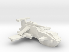 [5] Heavy Gunship in White Natural Versatile Plastic