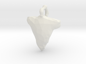 Arrow Head Low Poly in White Natural Versatile Plastic