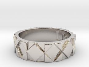 Futuristic Rhombus Ring Size 8 in Platinum