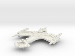 Negh'Var Class BattleCruiser in White Natural Versatile Plastic