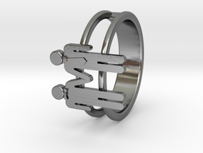 Love Collection Rings - Man and Man Ring in Polished Silver: 6 / 51.5