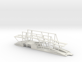 1/50 Car Hauler Trailer in White Natural Versatile Plastic