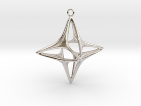 Christmas Star No.1 in Rhodium Plated Brass