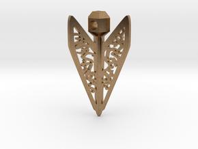 Bagani Artifact Pendant in Natural Brass