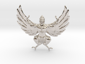 Garuda in Rhodium Plated Brass
