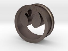 Star Wars Rebel Alliance 21mm Ear Ring Gauge in Polished Bronzed Silver Steel