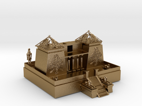 KARNAK TEMPLE in Polished Gold Steel