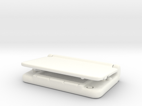 Nintendo 3dsXL:Miniature 1/3 size in White Processed Versatile Plastic