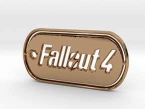 Fallout 4 Dog Tag in Polished Brass