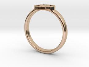 Ring of Everlasting Sun in 14k Rose Gold Plated Brass