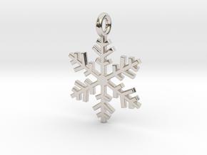 Snowflake Charm 1 in Platinum