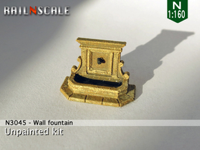 Wall fountain (N 1:160) in Smooth Fine Detail Plastic