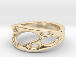 Frohr Design Ring Cell Cylcle in 14k Gold Plated Brass