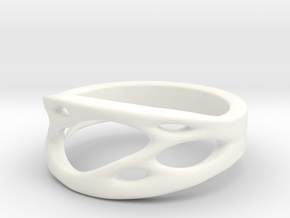 Frohr Design Ring Cell Cylcle in White Processed Versatile Plastic