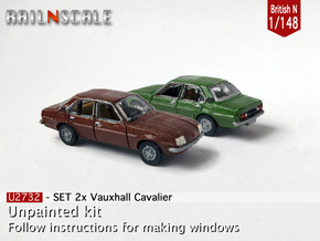 SET 2x Vauxhall Cavalier (British N 1:148) in Frosted Ultra Detail