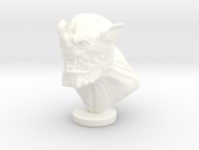 Demon Head in White Processed Versatile Plastic