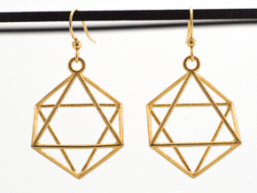 Hexagram in Natural Brass
