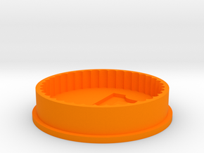 Cookie Cutter with birthday number in Orange Strong & Flexible Polished