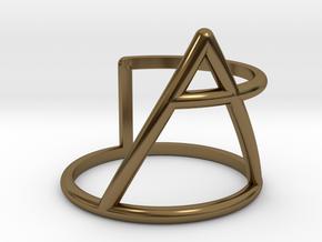 Xplore glyph ring size:small/medium in Polished Bronze