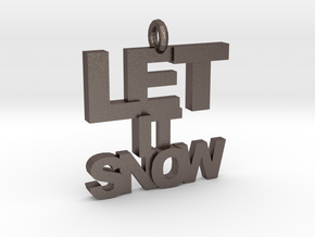 Let It Snow in Polished Bronzed Silver Steel