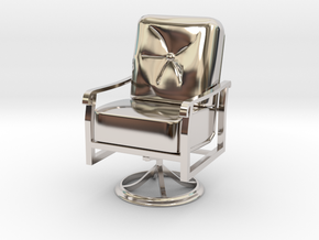 Mini Chair in Rhodium Plated Brass