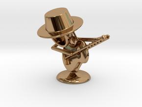 "Lala ""Playing Guitar"" - DeskToys in Polished Brass"