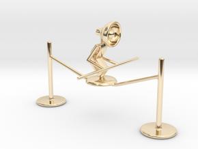 """Lala """"Walking on rope"""" - DeskToys in 14k Gold Plated Brass"""