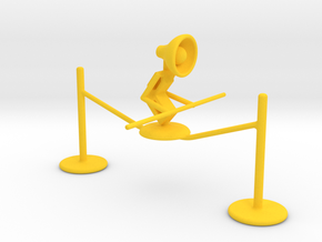"Lala ""Walking on rope"" - DeskToys in Yellow Strong & Flexible Polished"