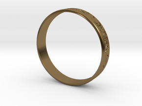 Ring Ornament love you in Polished Bronze
