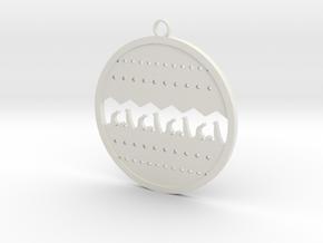 Christmas Ball with Christmas Crib! in White Natural Versatile Plastic