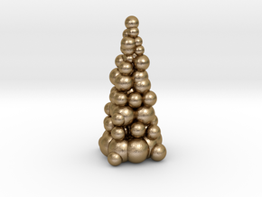 Christmas Tree Sculpture in Polished Gold Steel