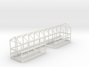 C-01L Dover Priory Shelter - Long Version in White Natural Versatile Plastic
