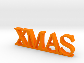 XMAS Letters in Orange Processed Versatile Plastic