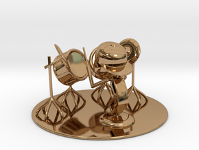 """Lala """"Trying Drums"""" - DeskToys in Polished Brass"""