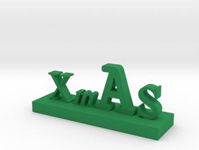 XMAS Letter 3 in Green Processed Versatile Plastic