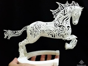 Rocinante Horse Sculpture in White Strong & Flexible