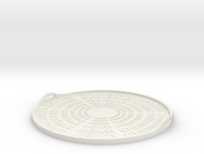 Christmas tray in White Natural Versatile Plastic