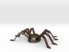 Spider Souvenir in Polished Bronze Steel