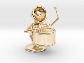 "Lala ""Performing in Drum Band"" - DeskToys in 14K Yellow Gold"