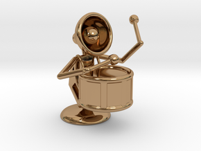 "Lala ""Performing in Drum Band"" - DeskToys in Polished Brass"