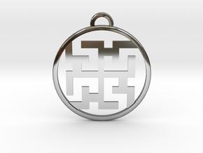 Magic Spirit Pendant in Fine Detail Polished Silver