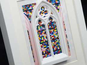 Gothic window  in White Strong & Flexible Polished