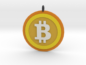 """Bitcoin """"We Use Coins"""" Style in Full Color Sandstone"""