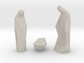 Contemporary Christmas statues in Natural Sandstone