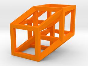 Hypercube in Orange Processed Versatile Plastic