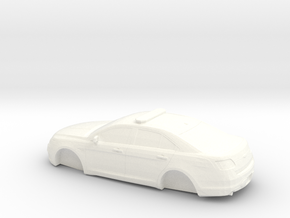 HO Scale 2012-2016 Ford Taurus Police Interceptor in White Processed Versatile Plastic