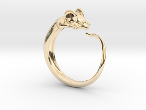 Mouse Ring in 14k Gold Plated Brass
